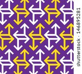 abstract arrow pattern | Shutterstock .eps vector #146895281