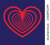 multiple heart icon | Shutterstock .eps vector #146895299