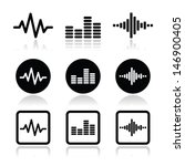 soundwave music vector icons set | Shutterstock .eps vector #146900405