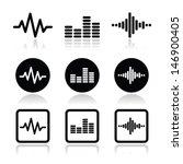 soundwave music vector icons set | Shutterstock .eps vector #146900405