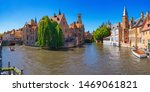 Panoramic View Of City Bruges ...