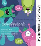 monster party card design.... | Shutterstock .eps vector #146914109