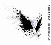 Abstract Image Of Black Wings...