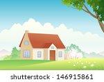 vector illustration of a spring ... | Shutterstock .eps vector #146915861