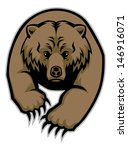 grizzly bear mascot - stock vector