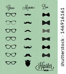 hipster design set  | Shutterstock .eps vector #146916161