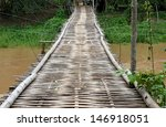 bamboo walkway over the river ... | Shutterstock . vector #146918051