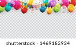 group of colour glossy helium... | Shutterstock .eps vector #1469182934