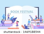 book festival concept with... | Shutterstock .eps vector #1469188544