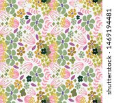 colorful floral seamless... | Shutterstock . vector #1469194481
