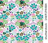 colorful floral seamless... | Shutterstock . vector #1469194484