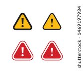 set of triangle caution vector... | Shutterstock .eps vector #1469197934
