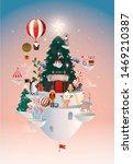 floating christmas wonderland... | Shutterstock .eps vector #1469210387