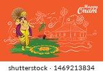 onam kerala festival india... | Shutterstock .eps vector #1469213834