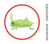 cricket icon. insect concept.... | Shutterstock .eps vector #1469224331