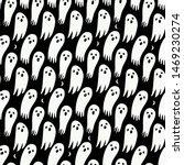 Halloween Ghost Seamless...
