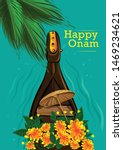 happy onam kerala festival... | Shutterstock .eps vector #1469234621