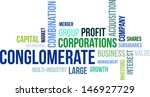 a word cloud of conglomerate... | Shutterstock .eps vector #146927729