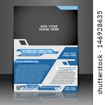 Vector Technology Consulting, flyer, brochure, magazine cover & poster template