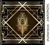 art deco style geometric... | Shutterstock .eps vector #1469294291