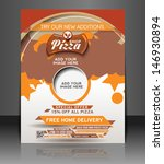 vector pizza shop flyer ... | Shutterstock .eps vector #146930894