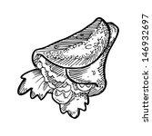 hand drawn burritos | Shutterstock .eps vector #146932697