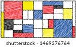 drawing checkered piet mondrian ...