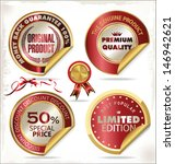 set of premium   quality golden ... | Shutterstock .eps vector #146942621