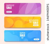 colorful web banner with button ... | Shutterstock .eps vector #1469440091