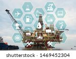 concept of automation in oil... | Shutterstock . vector #1469452304