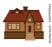 Vector illustration of a house. Front view