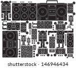 vector black and white tape... | Shutterstock .eps vector #146946434