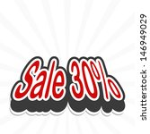 sale tag. vector  | Shutterstock .eps vector #146949029