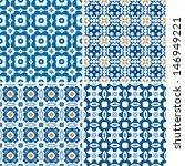 set of four seamless pattern... | Shutterstock .eps vector #146949221