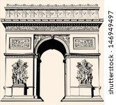 france   paris   arc de... | Shutterstock .eps vector #146949497