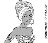 portrait of beautiful african...   Shutterstock .eps vector #146956859