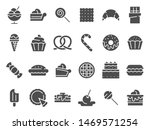 desserts silhouette icon. sweet ... | Shutterstock .eps vector #1469571254