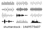 set of sound waves. analog and... | Shutterstock .eps vector #1469575607