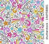 stars and swirls seamless...   Shutterstock .eps vector #146958881