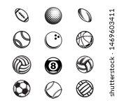 set of different black sport... | Shutterstock .eps vector #1469603411