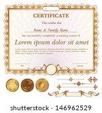vector gold certificate or...   Shutterstock .eps vector #146962529