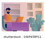 illustration of people working...   Shutterstock .eps vector #1469658911