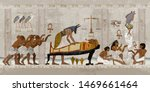 ancient egypt. mummification... | Shutterstock .eps vector #1469661464