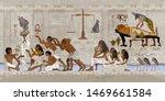 ancient egypt. mummification... | Shutterstock .eps vector #1469661584