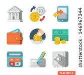 money flat icon set for web and ...