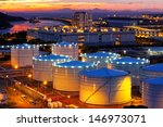 oil tanks at sunset   hongkong... | Shutterstock . vector #146973071