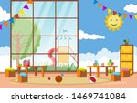 kindergarten classroom interior ...   Shutterstock .eps vector #1469741084