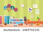kindergarten classroom interior ...   Shutterstock .eps vector #1469741141