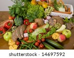 composition of food   Shutterstock . vector #14697592