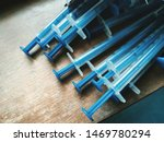 many small blue syringes... | Shutterstock . vector #1469780294